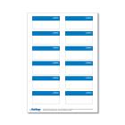 Beschriftungsetikett SR, blau 1 Bog.