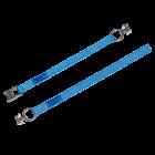 Zurrgurte mit Klemmschloss ZGKF 3000mm und 2 eingenähten Fittingen Länge: 350mm + 2650mm = 3000mm