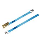 Zurrgurte mit Ratsche ZGRF 6500mm und 2 eingenähten Fittingen Länge: 1000mm + 5500mm = 6500mm