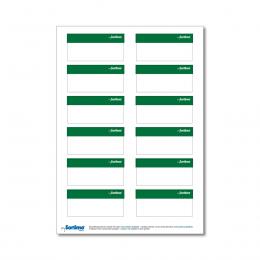 Beschriftungsetikett SR, grün 1 Bog.