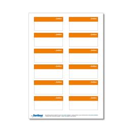 Beschriftungsetikett SR, orange 1 Bog.