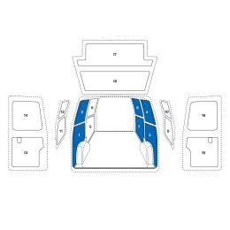 Sowaflex Wand links Wand rechts VW Crafter Mod.06  Radstand 3665mm 1 Schiebetüre links