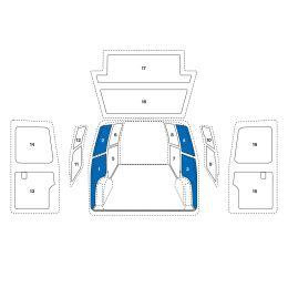 Sowaflex Wand links Wand rechts  VW Crafter Mod.06 Radstand 3665mm 2 Schiebetüren