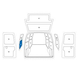 Sowaflex Schiebetür links unten VW Crafter Mod.17  Radstand 3640/4490mm HD/SHD