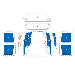 Sowaflex SET Wand links Wand rechts Schiebetür rechts oben/unten Heckflügeltüren oben/unten Opel Movano Mod.10  Radstand 4332mm Frontantrieb 1 Schiebetüre
