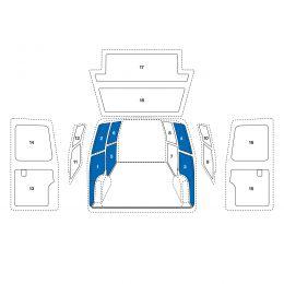 Sowaflex Wand links Wand rechts VW Crafter Mod.17  Radstand 4490mm Heckantrieb HD 1 Schiebetüre