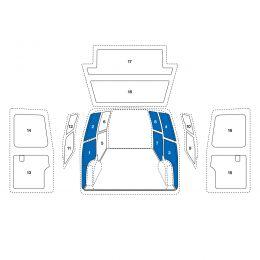 Sowaflex Wand links Wand rechts  Mercedes Citan Mod.12  Radstand 3081mm 1 Schiebetüre links
