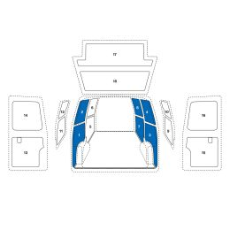 Sowaflex Wand links Wand rechts Peugeot Boxer Mod.06  Radstand 4035mm ED 1 Schiebetüre links
