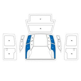 Sowaflex Wand links Wand rechts  VW Crafter Mod.17 Radstand 4490L mm Heckantrieb + 4x4 HD/SHD 2 Schiebetüren
