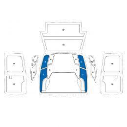 Sowaflex Wand links Wand rechts VW Crafter Mod.17 Radstand 3640mm Frontantrieb ND 2 Schiebetüren