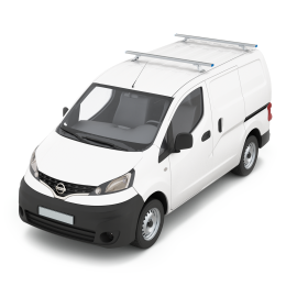 Lastenträger-Set Basis  Nissan NV200 Mod.09 Radstand 2725 mm ND bestehend aus Lastenquerträger mit Zurrsystem Positionen 1, 2 von vorne.
