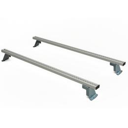 Lastenträger-Set Basis VW Caddy MAXI Mod.11 Radstand 3006 mm ND  bestehend aus Lastenquerträger mit Zurrsystem Positionen 1, 4  von vorne